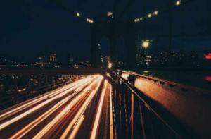 car light time-lapse