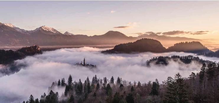 mountain tops panorama